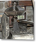 Gears Of The Old Grist Mill Metal Print