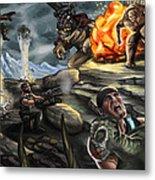 Gears Of War Battle Metal Print