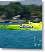 Geico Offshore Racer Metal Print