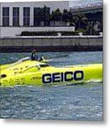 Geico Race Boat Metal Print