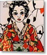 Geisha In Training Metal Print by Patricia Lazar