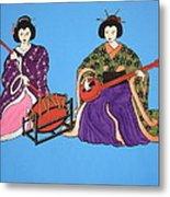 Geisha Serenade Metal Print