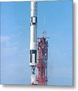 Gemini Vi Lifts Off From Its Launch Pad Metal Print
