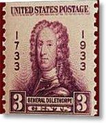 General James Oglethorpe Postage Stamp Metal Print