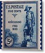 General Kosciuszko Postage Stamp Metal Print