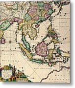 General Map Extending From India And Ceylon To Northwestern Australia By Way Of Southern Japan Metal Print
