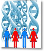 Genetic Sexuality Metal Print by Victor Habbick Visions