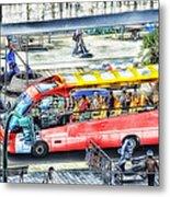 Genoa Sightseeing City Bus Metal Print