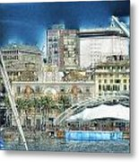 Genova Expo Area With Saint George Building Metal Print