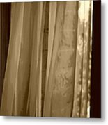 Gentle Breeze In Sepia Metal Print