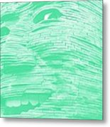Gentle Giant In Negative Green Metal Print