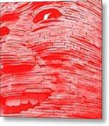Gentle Giant In Negative Red Metal Print