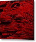 Gentle Giant In Red Metal Print