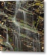 Gentle Waterfall In Glacier National Park Metal Print
