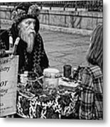 Genuine Palmistry And Tarot Black And White Metal Print