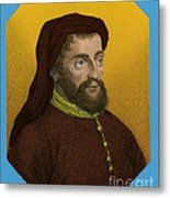 Geoffrey Chaucer, Father Of English Metal Print