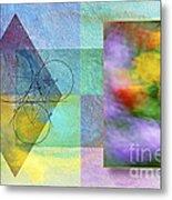 Geometric Blur Metal Print