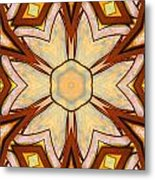 Geometric Stained Glass Abstract Metal Print