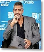 George Clooney At The Press Conference Metal Print by Everett