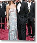 George Clooney, Sarah Larson Wearing Metal Print by Everett