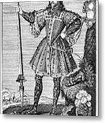 George Cumberland (1558-1605). George De Clifford Cumberland. 3rd Earl Of Cumberland. English Naval Commander And Courtier. Line Engraving, English, Early 19th Century Metal Print