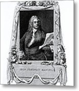 George Frideric Handel, German Baroque Metal Print by Omikron