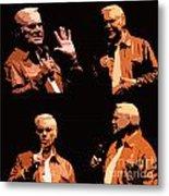 George Jones Concert Collage Metal Print