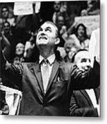 George Wallace Acknowledges The Cheers Metal Print