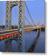 George Washington Bridge At Twilight Metal Print