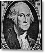 George Washington In White Metal Print