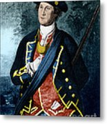 George Washington, Virginia Colonel Metal Print by Photo Researchers, Inc.