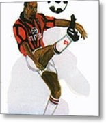 George Weah In Action Metal Print