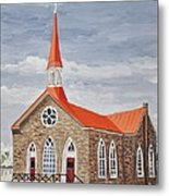 Georgetown Presbyterian Church Metal Print by Reb Frost