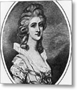 Georgiana Shipley (1752-1806) Metal Print