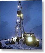 Geothermal Power Station Drilling Metal Print