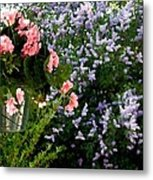 Geranium And Lilac Painting Metal Print