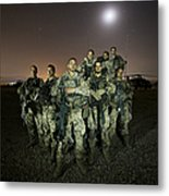 German Army Crew Poses Metal Print