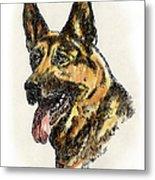 German-shepherd-portrait Metal Print