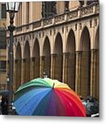 German Umbrella Metal Print