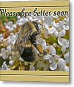 Get Well Card - Bumblebee Metal Print