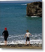 Get Your Feet Wet Metal Print
