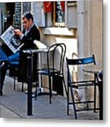 Getting The Morning News Metal Print