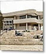 Getty Entrance Metal Print