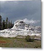 Geyser In Yellowstone Metal Print