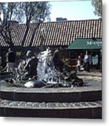 Ghiradelli Square Mermaid Fountain Metal Print
