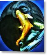 Ghost Koi Metal Print