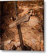 Ghost Town Cross Metal Print