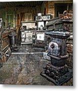 Ghost Town Stove Storage - Montana State Metal Print
