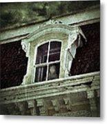 Ghostly Girl In Upstairs Window Metal Print by Jill Battaglia