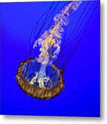 Ghostly Jellyfish Metal Print